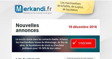 Newsletter gratuit pour les acheteurs de 26 pays